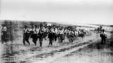 Military of 2nd Frontier-guards Regiment in the march at Kapalieva (east Odessa), on 18 August 1941.