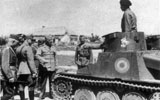 General Pantazi inspecting the 5th Mechanised Squadron of the 8th Cavalry Division in Crimea, 8 August 1942.