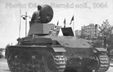 R-2 tank at the parade. Notice the aerial identification cross painted in Romanian airforce style on the hood of the engine.