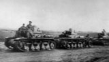 R-35 tanks of the 2nd Tank Regiment returning from Odessa on rain. October 1941.