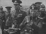 King Mihai I and gen. Ion Antonescu during an inspection on the front, July 1941