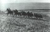 Romanian cavalry in action, probably in a propaganda photo