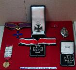 Orders and medals that belonged to brig. gen. Radu Korne on display in the National Military Museum