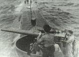 The 102 mm Bofors gun on the NMS <i>Delfinul</i> submarine