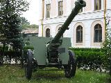 105 mm Schneider model 1936 field gun in the courtyard of the National Military Museum