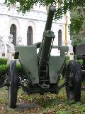 75 mm Skoda model 1928 gun in the courtyard of the National Military Museum